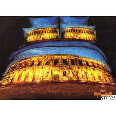 Постельное белье Love You Сатин 3D Семейное Колизей city