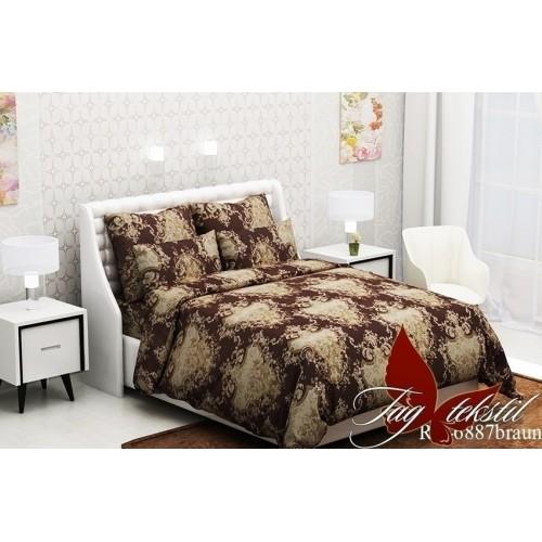 Комплект постельный полуторный ранфорс TAG RC6887 braun