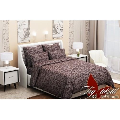 Комплект постельный полуторный ранфорс TAG RC6997 braun