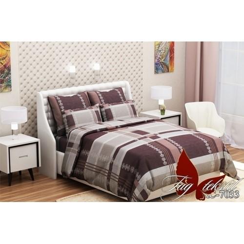 Комплект постельный полуторный ранфорс TAG RC7033