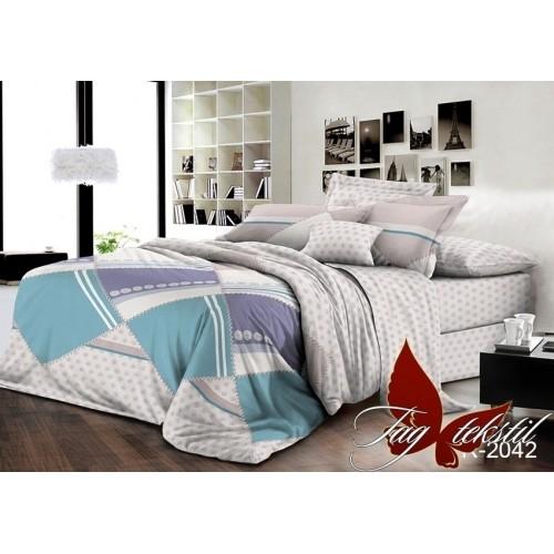Комплект постельного белья TAG Ранфорс R2042 Семейный