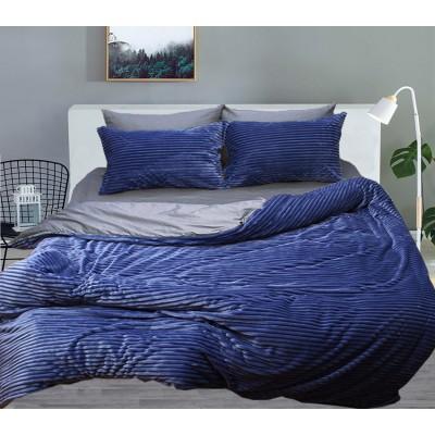 Комплект постельного белья TAG Сатин Люкс зима-летоBlue Евро