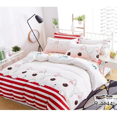 Комплект постельного белья TAG Ранфорс R4144 Семейный