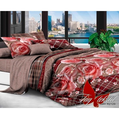 3D постельное белье поликоттон двухспальное TAG XHY2129