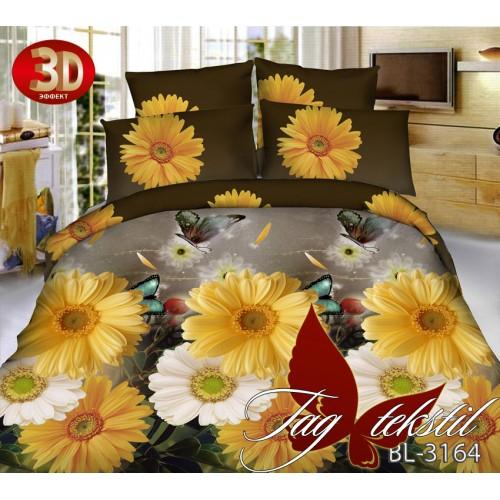 Комплект постельного белья 3D поликоттон полутораспальное BL3164