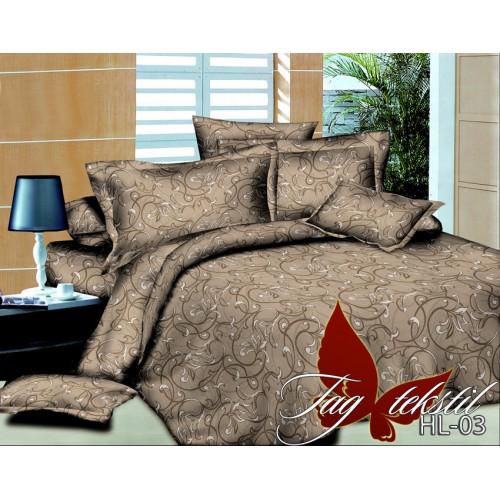 Комплект постельного белья 3D поликоттон полутораспальное HL03