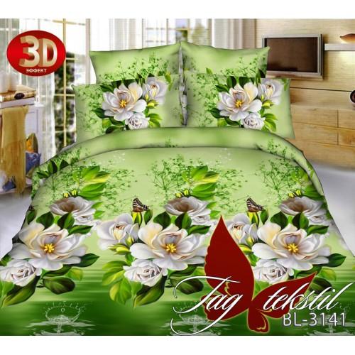 Комплект постельного белья 3D поликоттон полутораспальное BL3141