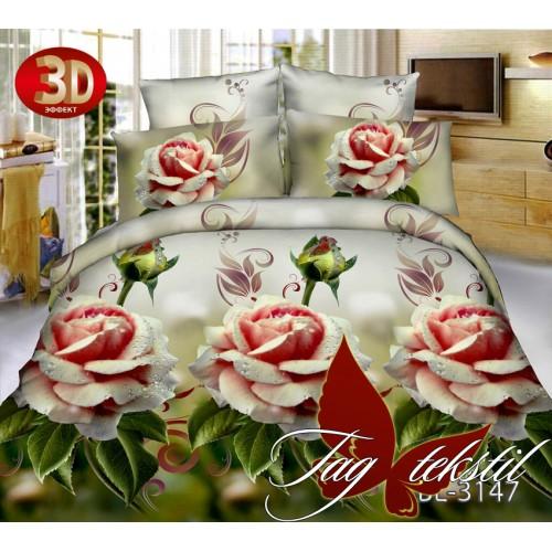 Комплект постельного белья 3D поликоттон полутораспальное BL3147