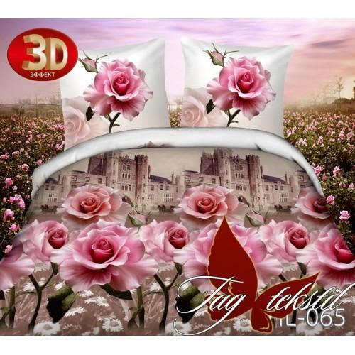 Комплект постельного белья 3D поликоттон полутораспальное HL 065