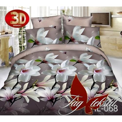 Комплект постельного белья 3D поликоттон полутораспальное HL 068