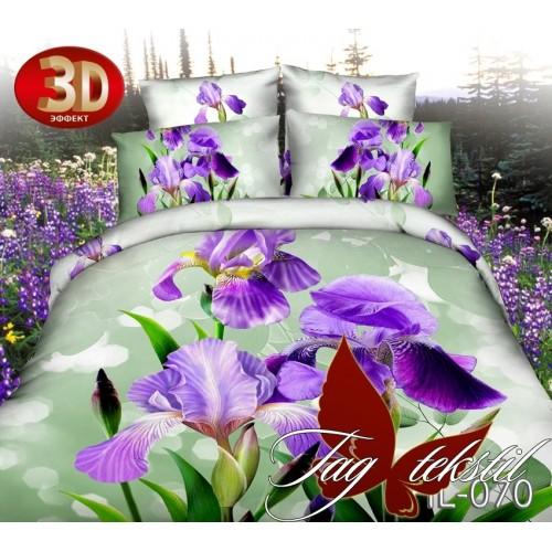 Комплект постельного белья 3D поликоттон полутораспальное HL 070