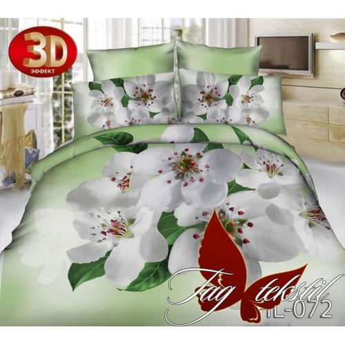 Комплект постельного белья 3D поликоттон полутораспальное HL 072