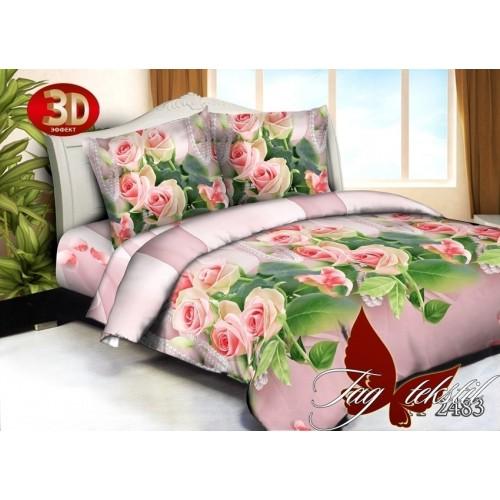 Комплект постельного белья 3D поликоттон полутораспальное HT2483