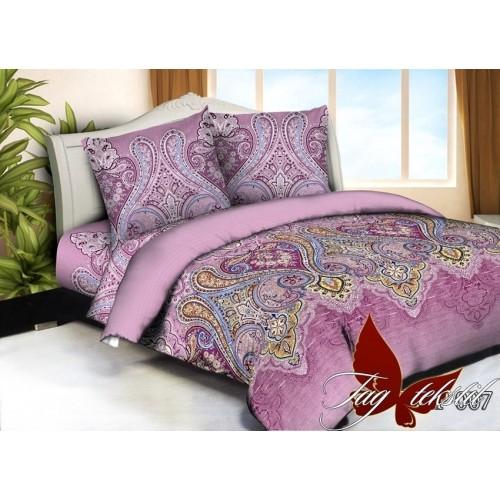 Комплект постельного белья 3D поликоттон полутораспальное HTP007