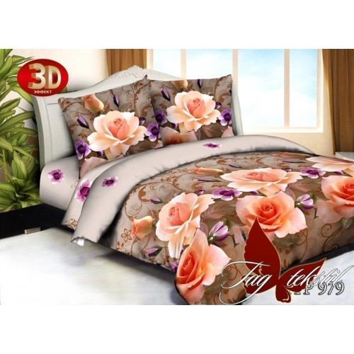 Комплект постельного белья 3D поликоттон полутораспальное HTP979