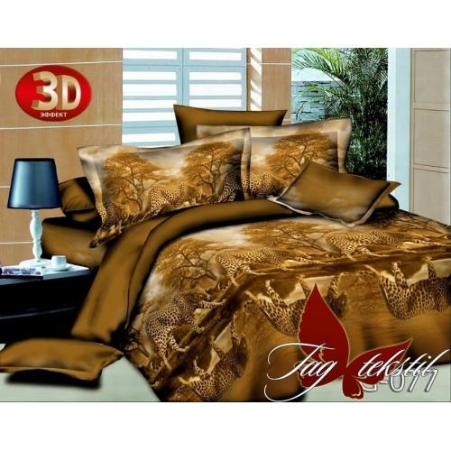 Комплект постельного белья 3D поликоттон полутораспальное TG 077