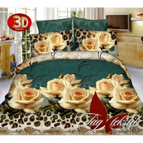 Комплект постельного белья 3D поликоттон полутораспальное BL3115