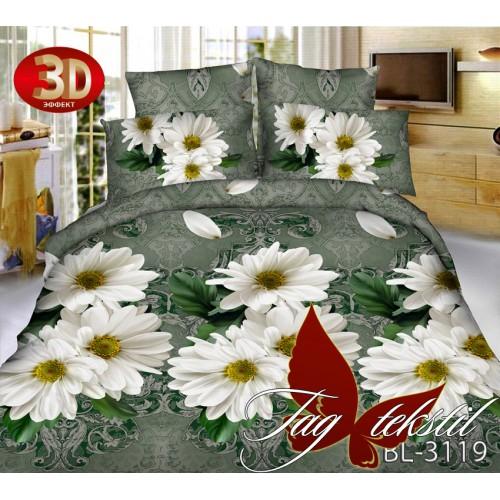Комплект постельного белья 3D поликоттон полутораспальное BL3119