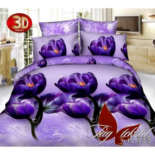 Комплект постельного белья 3D поликоттон полутораспальное HL135