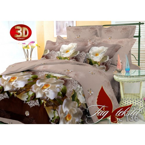 Комплект постельного белья 3D поликоттон полутораспальное HL136