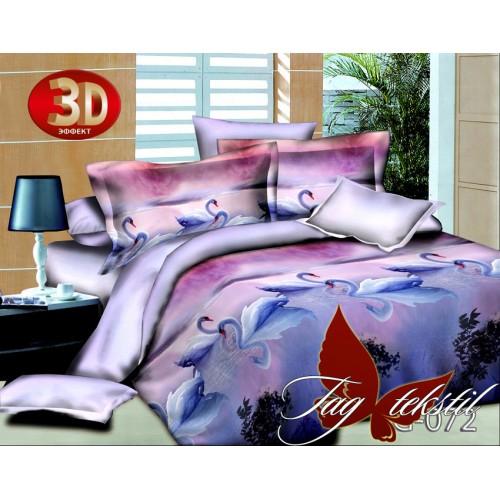 Комплект постельного белья 3D поликоттон полутораспальное TG 072-1