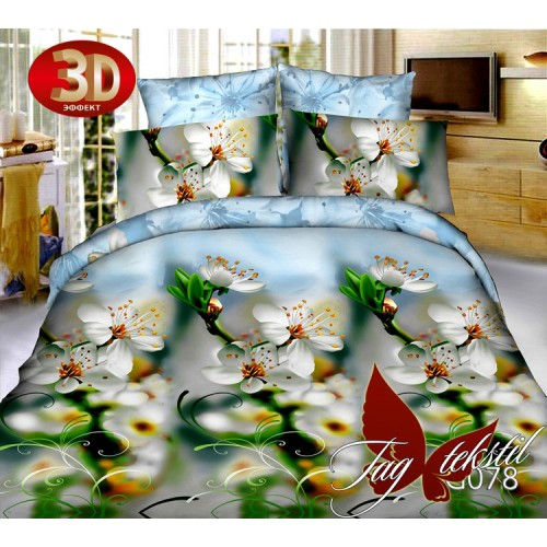 Комплект постельного белья 3D поликоттон полутораспальное TG 078
