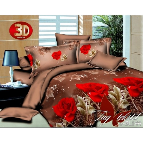 3D постельное белье полисатин полуторное TAG BL144