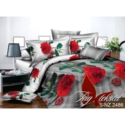 Комплект постельного белья 3D полисатин евро PS-NZ-2486