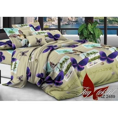 Комплект постельного белья 3D полисатин полуторное PS-NZ-2489