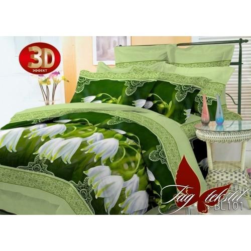 Комплект постельного белья 3D полисатин полуторное PS-BL101