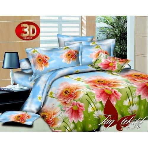 Комплект постельного белья 3D полисатин полуторное PS-BL76