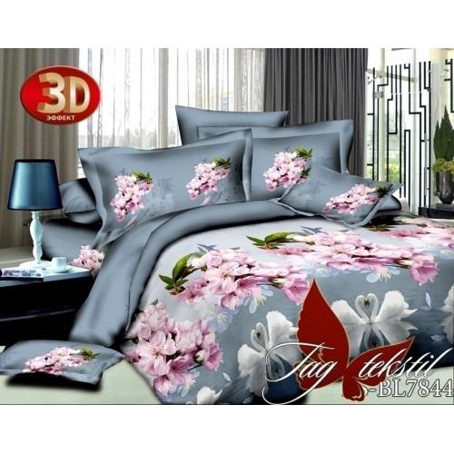 Комплект постельного белья 3D полисатин полуторное BL 7844