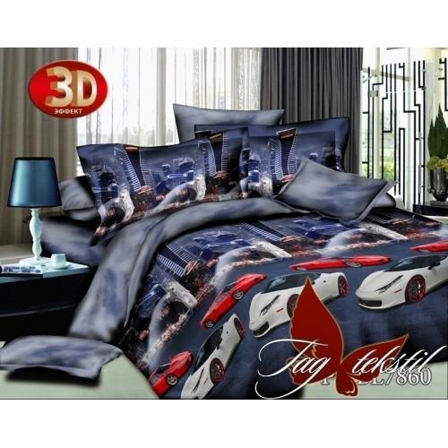 Комплект постельного белья 3D полисатин полуторное PS-BL7860
