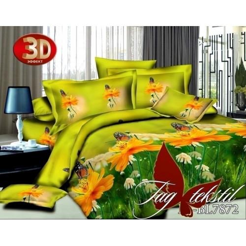 Комплект постельного белья 3D полисатин полуторное BL 7872