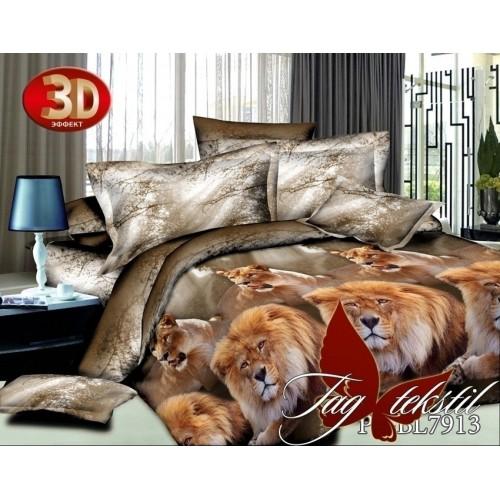 Комплект постельного белья 3D полисатин полуторное BL 7913