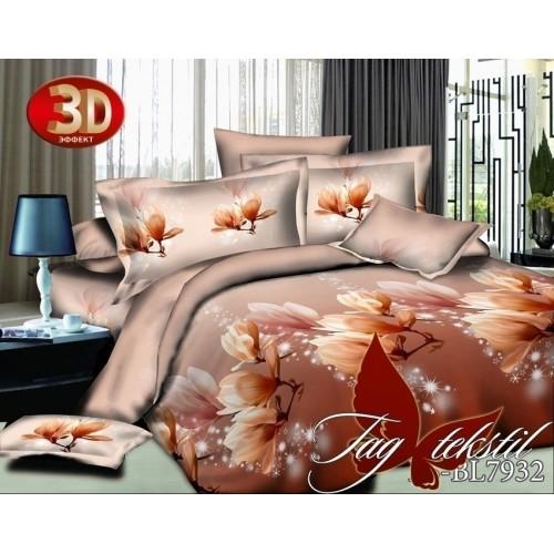 Комплект постельного белья 3D полисатин полуторное PS-BL7932