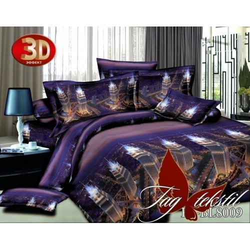Комплект постельного белья 3D полисатин полуторное BL 8009