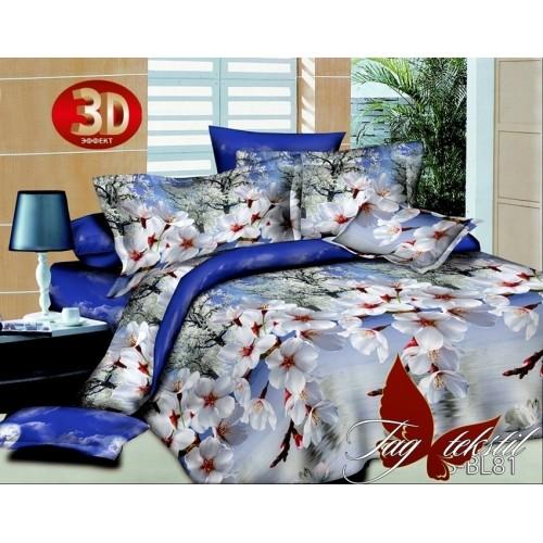Комплект постельного белья 3D полисатин полуторное PS-BL81