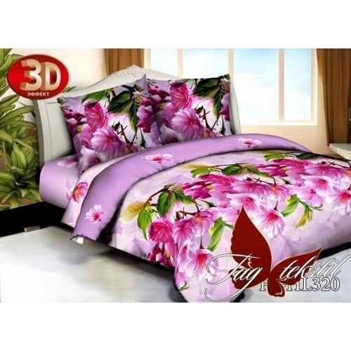 Комплект постельного белья 3D полисатин полуторное HL 320