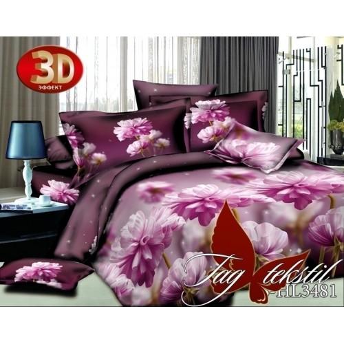Комплект постельного белья 3D полисатин полуторное HL 3481