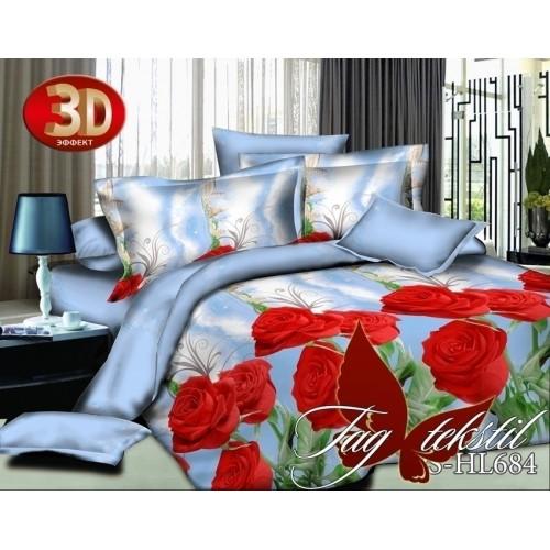 Комплект постельного белья 3D полисатин полуторное PS-HL684