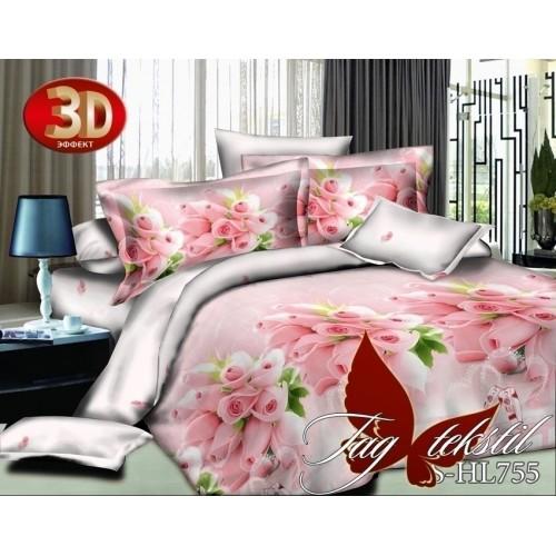 Комплект постельного белья 3D полисатин полуторное PS-HL755