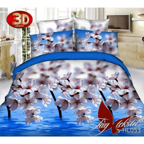 Комплект постельного белья 3D полисатин полуторное HL 053
