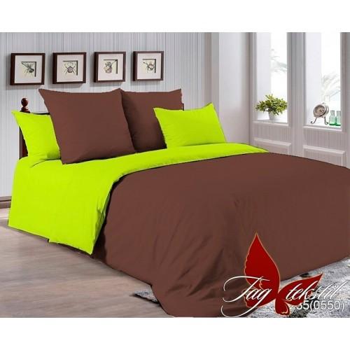 Поплиновое постельное белье полуторное TAG P-1235(0550)