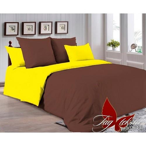 Поплиновое постельное белье полуторное TAG P-1235(0643)