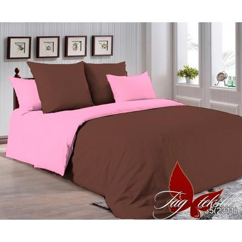 Поплиновое постельное белье полуторное TAG P-1235(2311)