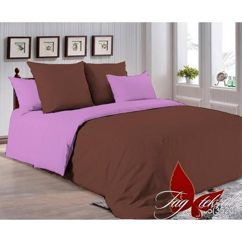 Поплиновое постельное белье полуторное TAG P-1235(3520)