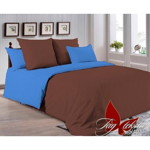 Поплиновое постельное белье полуторное TAG P-1235(4037)