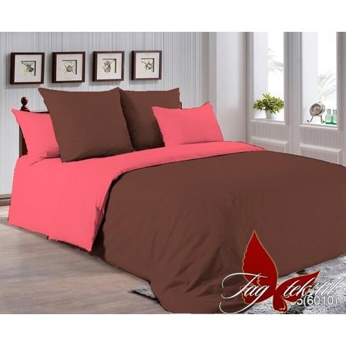 Поплиновое постельное белье полуторное TAG P-1235(6010)