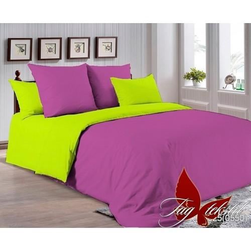 Поплиновое постельное белье полуторное TAG P-3025(0550)
